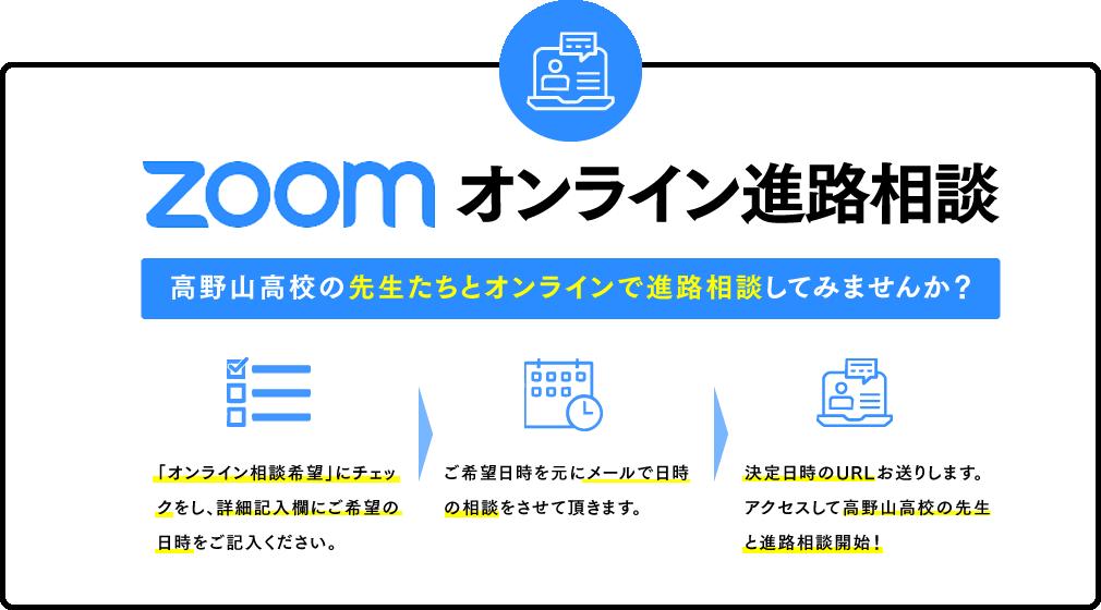 ZOOMオンライン進路相談。